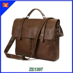 Alibaba leather messenger leather briefcase bag best selling leather bags elegant genuine leather mens briefcase laptop case