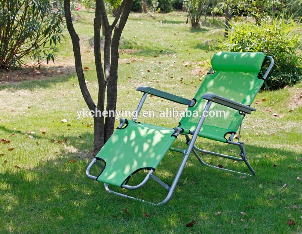 Transat de plage chaise pliante en m tal for Relax plage pliante