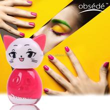 Professional wholesale cheap peel off uv gel glass bottle kids nail polish for nail
