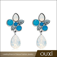 OUXI supply wholesale fashion imitation deluxe gypsy earring jewelry, crystals from Swarovski