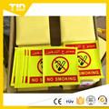 Custon sinal não fumadores / danger sinal de advertência reflexivo