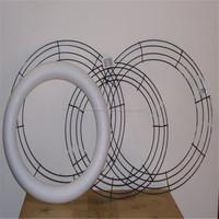 Halloween wreath frames for decoration/metal wire wreaths