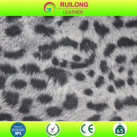 leopard print leather for shoe making bag fabric