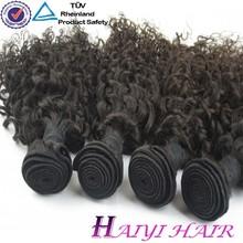 large stock! natural color unprocessed brazilian human hair drawstring ponytail