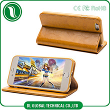 luxury style mobile phone genuine leather case for iphone 6 in stock