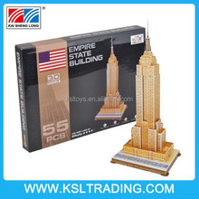 55PCS Empire State Building children 3d jigsaw puzzle for sale