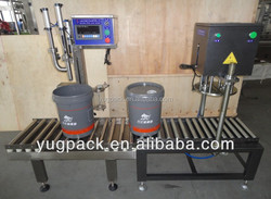 Semi-auto chemical material weighing and filling machine