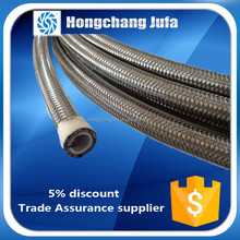 nontoxic high-low temperature flexible acid ss braided ptfe lined metal hose