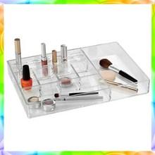 Acrylic make up organizer with 4 spaces brush holder,acrylic nail polish opi cosmetic organizer
