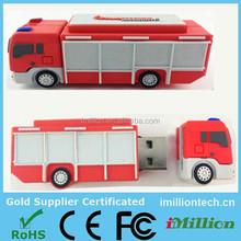 Custom fire truck usb 2.0 flash drive promotional usb 2.0
