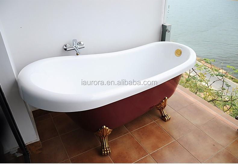 Acrylic Clawfoot Freestanding Red Bathtub With Legs Buy
