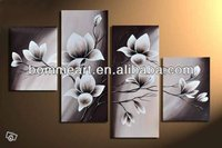 hand-painted wall art Quietly elegant blooming flowers