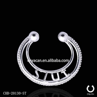 Factory Prices Unique Designs Brass Indian Jewelry Nose Ring