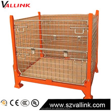 Sell Online Folding Wire Mesh Container/ Stackable Storage Cage/ Metal Basket
