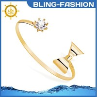 Charm Knotted bangle gold jewellery