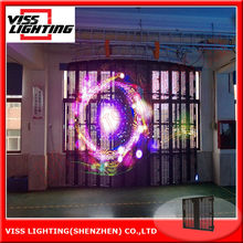 Transparent Mesh LED Video Screen For Concert Stage Backdrop