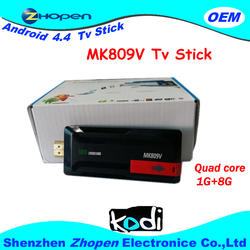 factory google android 4.4 tv stick MK809V With Remote