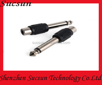 6.35mm mono to rca jack audio adapter 6.35mm plug male to rca jack female adapter