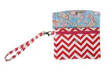 Smart case Long Makeup Bag Black Rose color men zipper pocket wallet