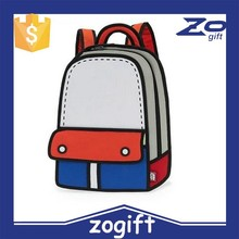 ZOGIFT 2014 Guangzhou manufacturer 3D cartoon bag Lady messenger bags 3D bag