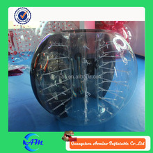 Factory direct sale newly black color Inflatable soccer bubble football bumper bubble ball for sale