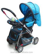2015 high quality good price baby stroller canopy with ball toys