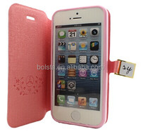 Oracle texture flip leather case cover for iphone 5c