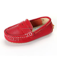 fashion children peas shoes casual with leather for boys girls, high quality kids casual shoes leather have sample