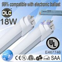 99% compatible with electronic ballasts china young tube 18w t8 led red tubetube. 100-277V UL DLC