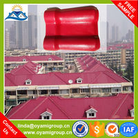 New type 25 years guarantee color coated synthetic resin spanish plastic lowes roofing shingles prices for villa roof