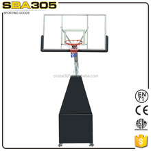 heavy duty steel pole basketball goal stand