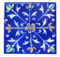 Iron Wall Hook Blue Pottery Tiles