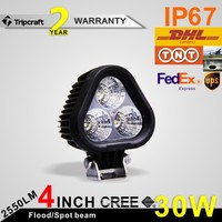 30W LED WORK LIGHT 12v 24v Driving On Truck, Atv, Boat, Offroad LED Work Light Bar