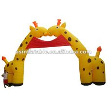 2012 best seller hot cartoon outdoor inflatable christmas arch