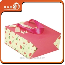 pink design hot sale custom packaing shopping paper bag with handles
