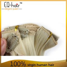 Top 7a Grade Remy Malaysian Hair Long Straight Clip In Human Hair Extension