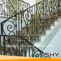 2014 Curved Wrought Iron Stair Railings,Indoor Wought Iron Hand Railings