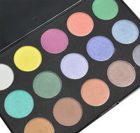 Beauties Factory 15 Color Eyeshadow Palette - Cool Shimmer Mix