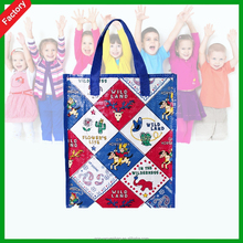 Children Christmas Fashion Custom Promotional Eco reusable colorful Recycled used pp non woven bag for shopping European market