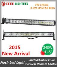 New White&Amber Wireless Strobe Light, 18000lm High Power 240W Offroad Wireless Strobe Light
