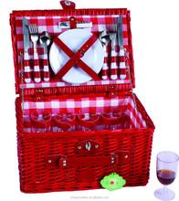 wholesale Red wicker starage basket