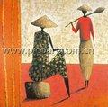 Las mujeres africanas de pintura al óleo, pinturas africanas