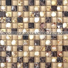 Colorize glass shell mosaic tile for bathroom tile (GY029)