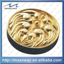 custom memorial die casting zinc alloy 3D plated gold coin
