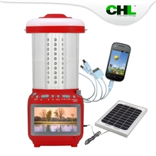 Portable CHL solar lamps for home with cell phone charger, TV, fm radio