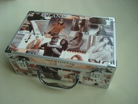 Empty cosmetic bags,cosmetic leather pouch,nail polish cosmetic box