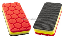 Clay Pad Applicator With Hex Logic Red Finishing Pad