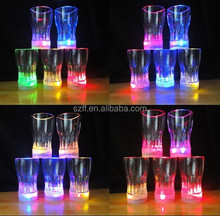 Plastic led flashing cup, led cola cup for wedding decoration