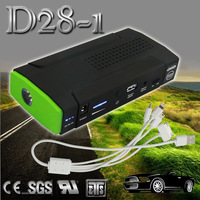 Stylish 12000mAh 12v lithium polymer diesel gasoline Saloon/SUV/Bus mini booster jump starter power bank battery charger car