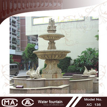 Large size 2 tier garden decorations waterfall outdoor fountain